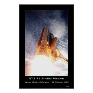 Space Shuttle Columbia Lift-off – STS - 73 Poster
