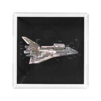 Space Shuttle Cutaway Acrylic Tray