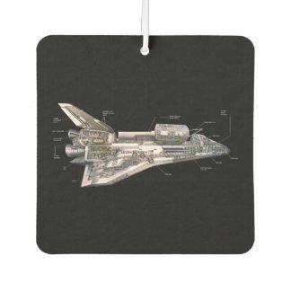 Space Shuttle Cutaway Car Air Freshener