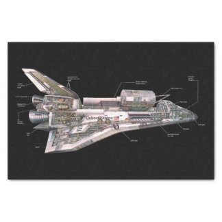 Space Shuttle Cutaway Tissue Paper