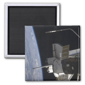 Space Shuttle Discovery 10 Square Magnet