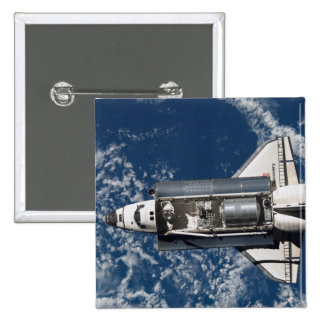 Space Shuttle Discovery 16 2 Inch Square Button