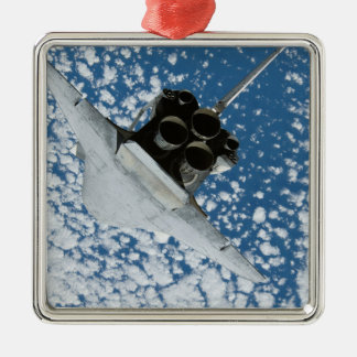 Space Shuttle Discovery 8 Silver-Colored Square Ornament