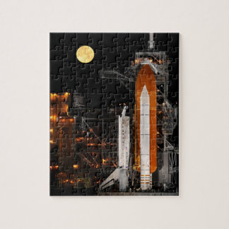 Space Shuttle Discovery and Moon Jigsaw Puzzle