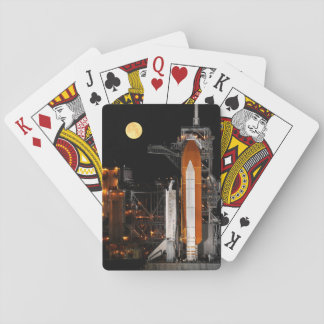 Space Shuttle Discovery and Moon Playing Cards