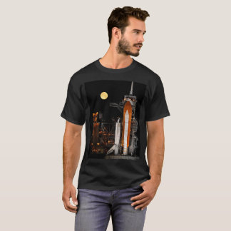 Space Shuttle Discovery and Moon T-Shirt