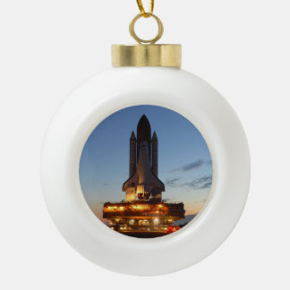 Space shuttle Discovery Ceramic Ball Ornament