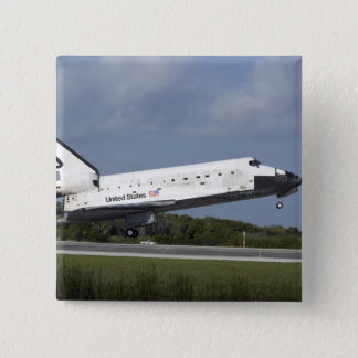 Space shuttle Discovery lands on Runway 33 3 2 Inch Square Button