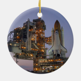 Space Shuttle Discovery Round Ceramic Ornament