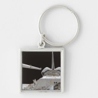 Space Shuttle Discovery's payload bay Silver-Colored Square Keychain