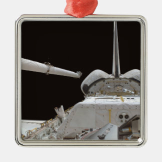 Space Shuttle Discovery's payload bay Silver-Colored Square Ornament