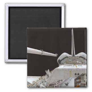 Space Shuttle Discovery's payload bay Square Magnet