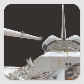 Space Shuttle Discovery's payload bay Square Sticker