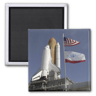 Space Shuttle Endeavour 2 Square Magnet