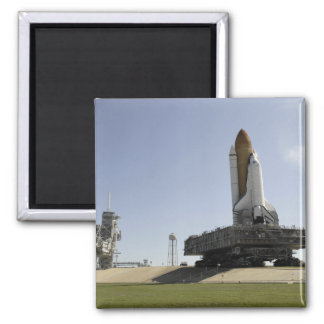 Space Shuttle Endeavour approaches the launch p Square Magnet