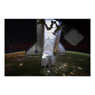 Space Shuttle Endeavour Docked at ISS (2011) Poster