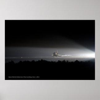 Space Shuttle Endeavour Final Landing Poster Print