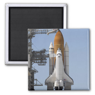 Space Shuttle Endeavour sits ready Square Magnet