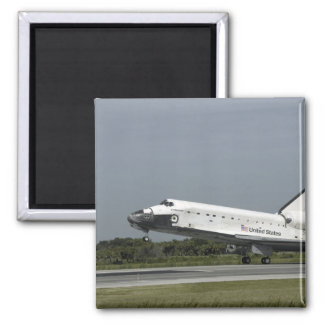 Space Shuttle Endeavour touches down Square Magnet