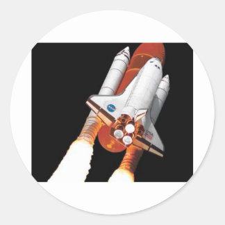 space shuttle - final flight round sticker