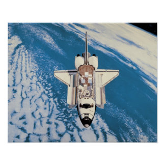 Space Shuttle in Orbit Poster
