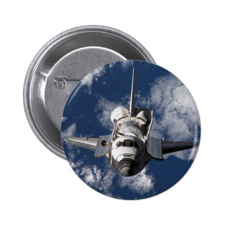 Space Shuttle in Orbiting Earth 2 Inch Round Button