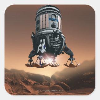 Space Shuttle Landing 3 Square Sticker