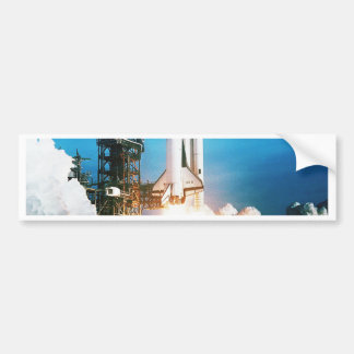 SPACE SHUTTLE LAUNCH BUMPER STICKER