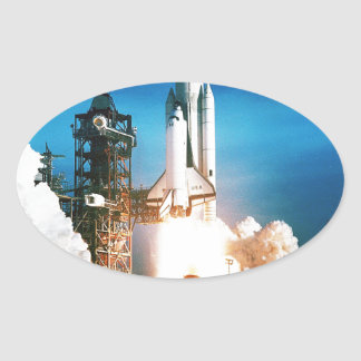 SPACE SHUTTLE LAUNCH OVAL STICKER