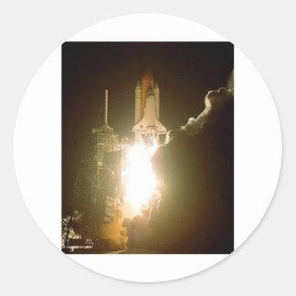 SPACE SHUTTLE LIFT-OFF ROUND STICKER