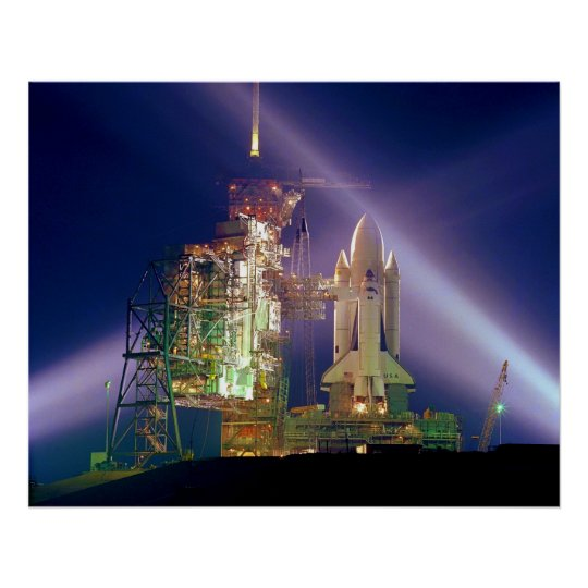 Space Shuttle Mission STS-1 Launch Pad A Poster