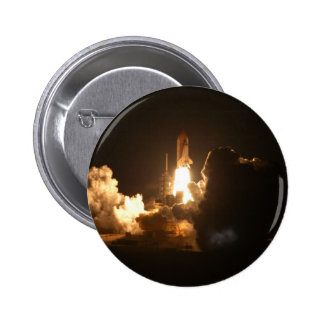 Space Shuttle Night Launch Poster 2 Inch Round Button