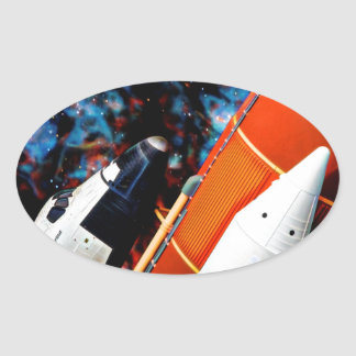Space Shuttle Oval Sticker