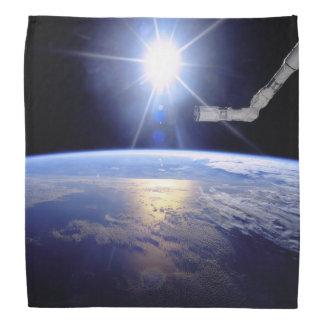 Space Shuttle Robot Arm Earth Orbit Sunburst Bandana
