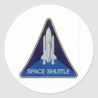 space shuttle round sticker