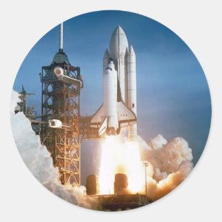 """""""Space Shuttle"""" Round Sticker"""
