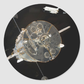 Space Shuttle SkyLab Round Sticker
