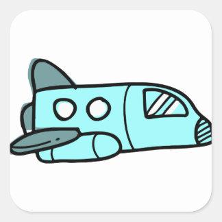 Space Shuttle Square Sticker