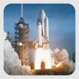 """Space Shuttle"" Square Sticker"