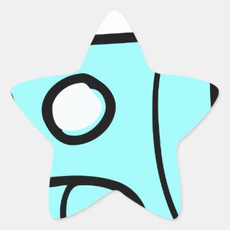 Space Shuttle Star Sticker