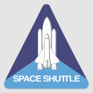 Space Shuttle Triangle Triangle Sticker
