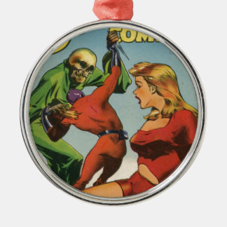 Space Skeleton Metal Ornament