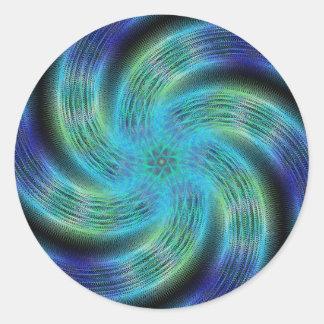 Space spiral round sticker