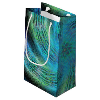Space spiral small gift bag