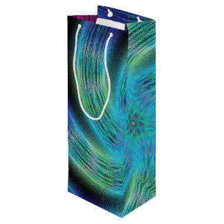 Space spiral wine gift bag