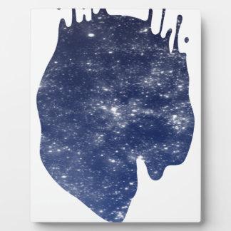 Space splash plaque