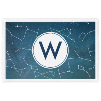 Space Star Constellations Astronomy Initial Letter Acrylic Tray