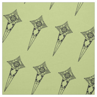 Space star fish - fabric tribal star pattern boho