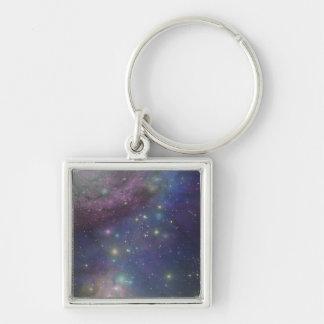 Space, stars, galaxies and nebulas keychain