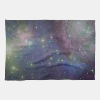 Space, stars, galaxies and nebulas kitchen towel